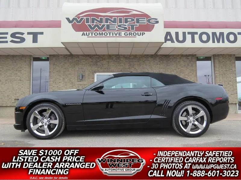 2011 Chevrolet Camaro 2SS TRIPLE BLACK CONV, 426HP, HARD LOADED, LOW KMS #W4775