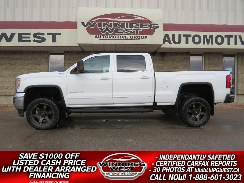 2016 GMC Sierra 2500HD LIFTED SLE CREW 4X4, REMOTE START, 1-OWNER, SHARP! #GWL4804