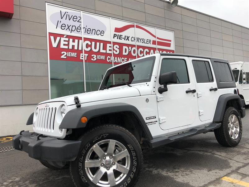 Jeep Wrangler Unlimited 2017 4WD 4dr Sport+GR.ELEC+A/C+MAGS+WOW! #UD4875