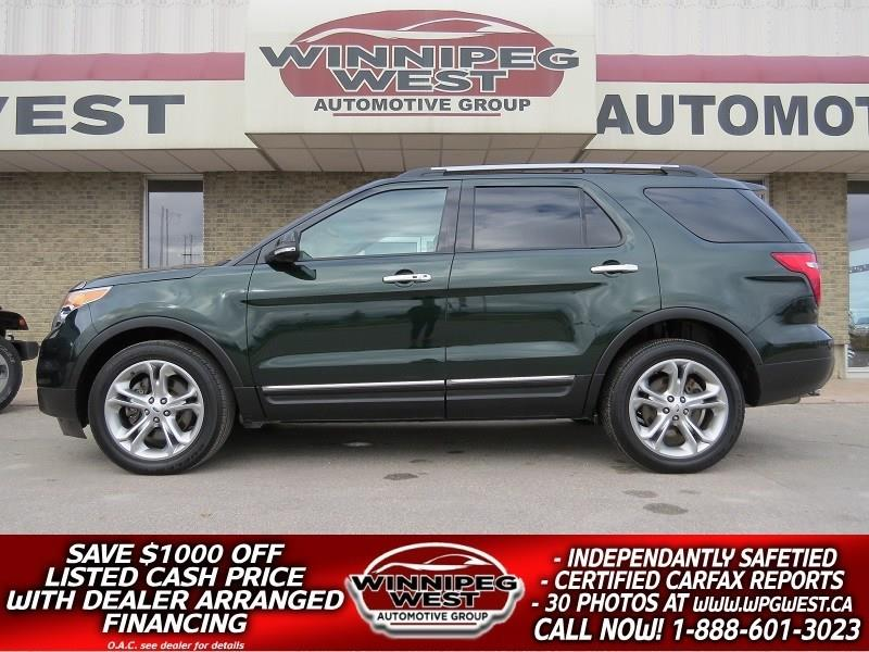 2013 Ford Explorer LIMITED AWD, 7 PASS, LEATHER, NAV, FLAWLESS! #GNW4823