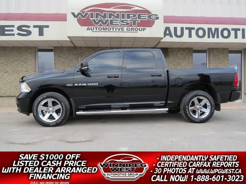 2012 Ram 1500 SPORT CREW 4X4, HEMI, SUNROOF, NAV, LEATHER! #GW4814
