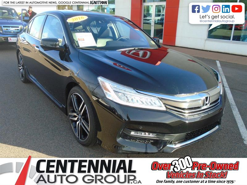 2016 Honda Accord Sedan Touring | Honda Sensing | Bluetooth | Moon Roof | #9557A