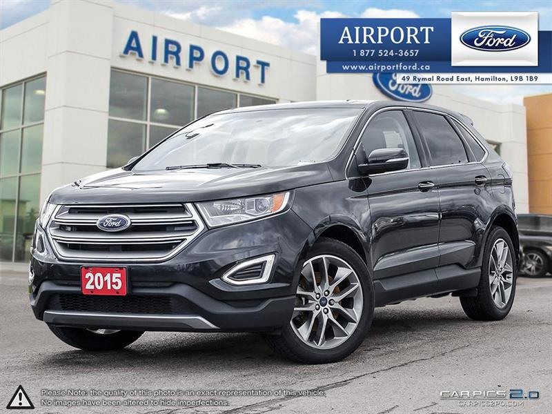 2015 Ford EDGE Titanium AWD with only 61,486 kms #00H904