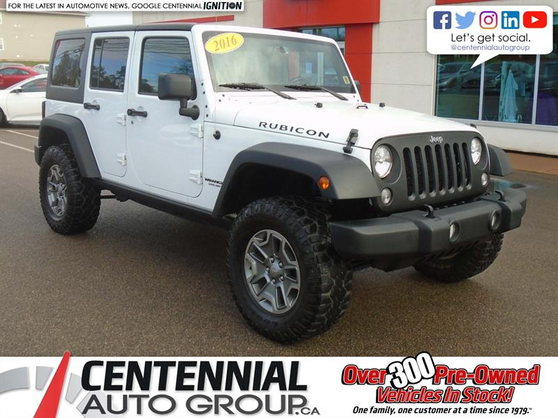 2016 Jeep Wrangler Unlimited Unlimited Rubicon | T-Bar Roof | Convertible |  #9553A