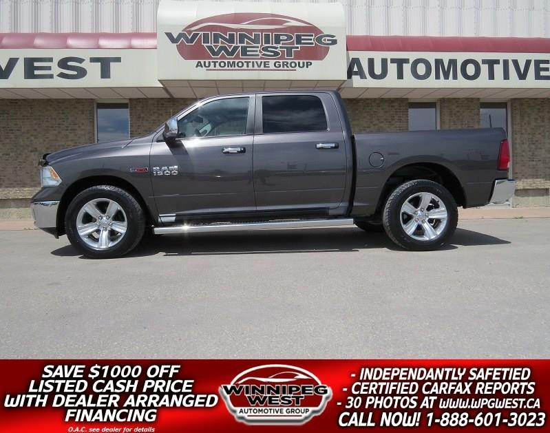2015 Ram 1500 CREW ECODIESEL 4X4, LOAD, HTD SEAT, SUNROOF, LOCAL #DW4622