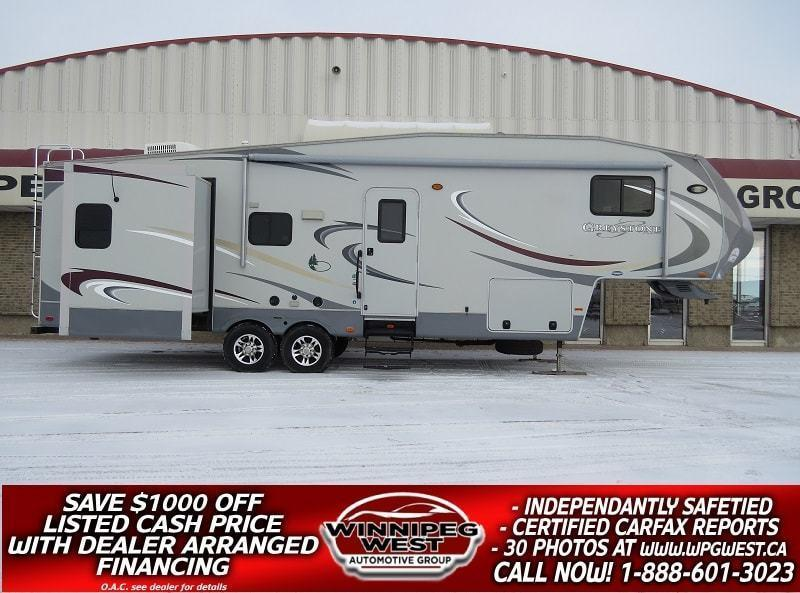 2011 Heartland GREYSTONE 32RL 35FT TRIPLE SLIDE HOME,