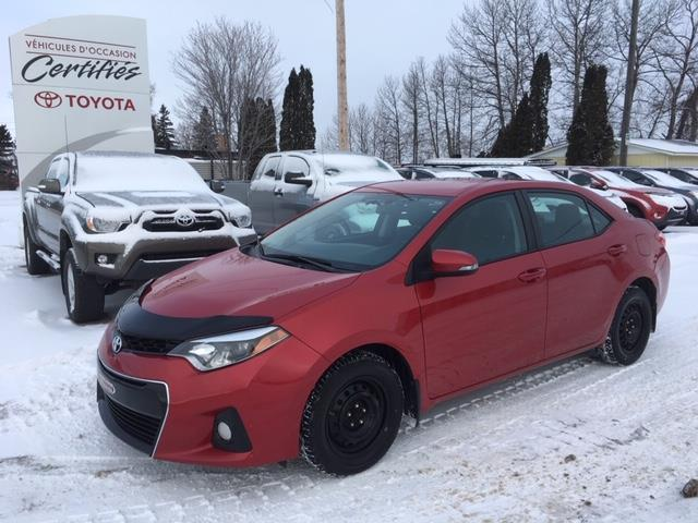 Toyota Corolla 2015 4dr Sdn S #11899A
