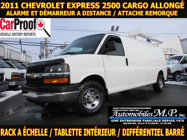 Chevrolet Express 2500 2011 CARGO ALLONGÉ 124.000 KM RACK ECHELLE TABLETTE #0709