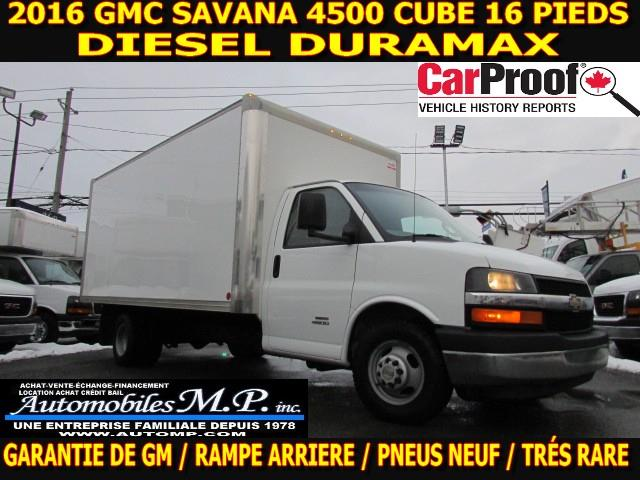 Chevrolet Express Commercial Cutaway 2016 4500  CUBE 16 PIEDS DIESEL DURAMAX #3128