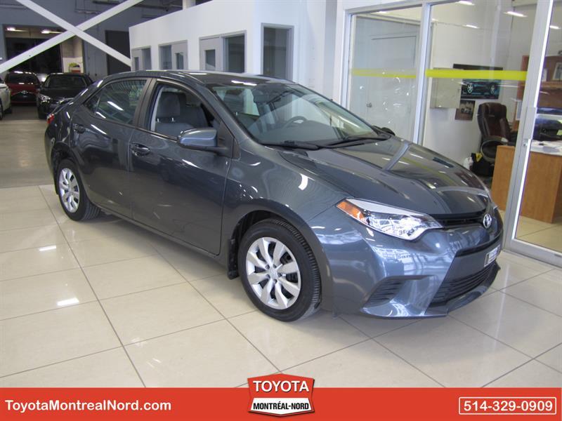 Toyota Corolla 2014 LE CVT Camera Recul Aut/Ac/Vitres,Portes,Miroirs E #3482 E