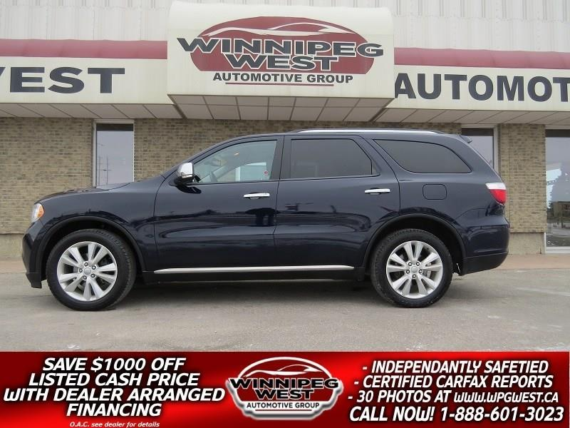 2013 Dodge Durango CREW PLUS 7 PASS, LEATHER, ROOF, DVD, NAV, LOADED! #GNW4834