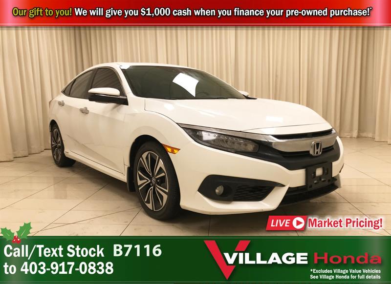 2016 Honda Civic Sedan Touring - 1 Owner #B7116