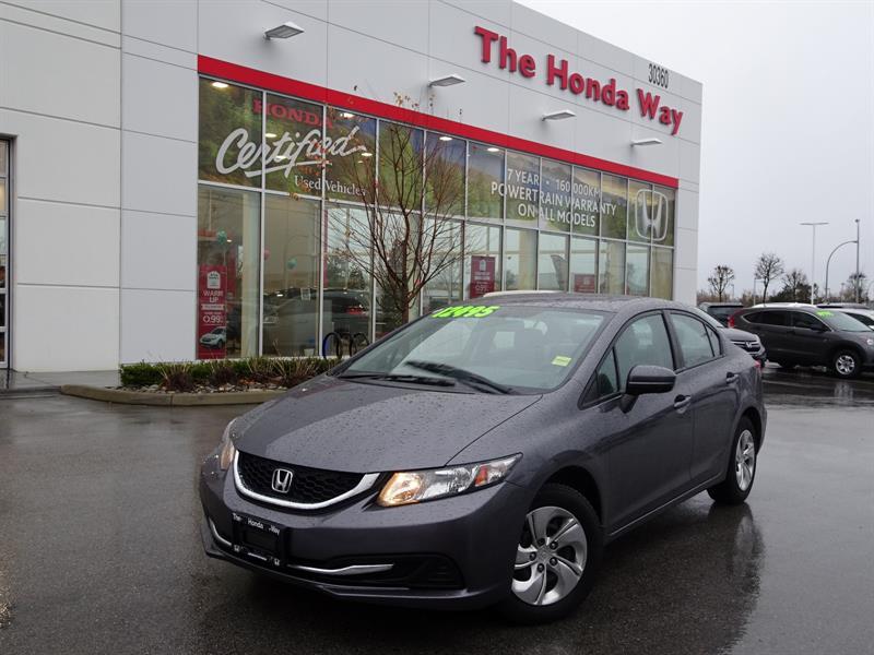 2014 Honda Civic LX Sedan CVT under warranty until 2021 or 160,000k #P5274