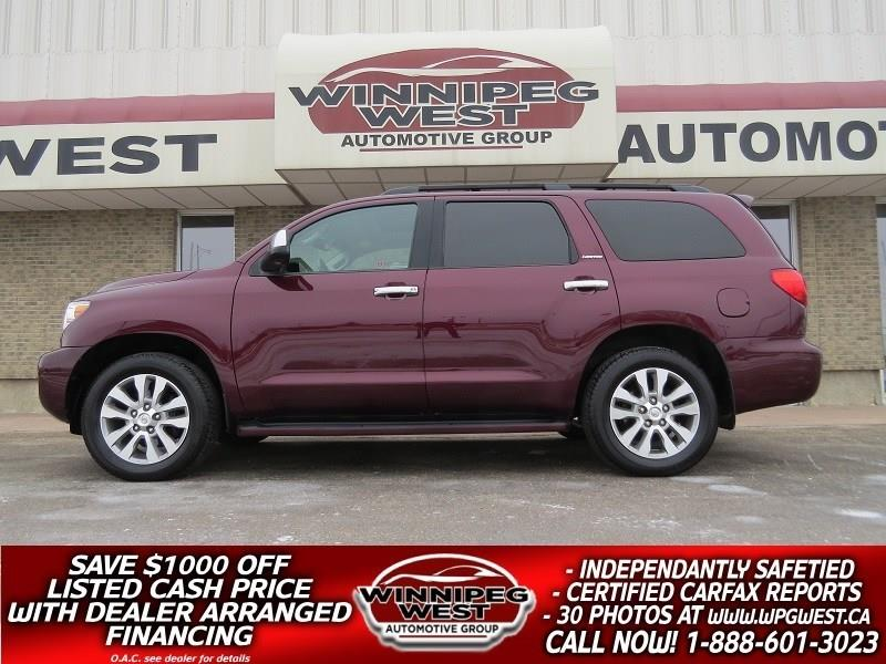 2011 Toyota Sequoia LIMITED 5.7L V8 4X4, 8 PASS, LOADED - ALL OPTIONS! #GIW4797