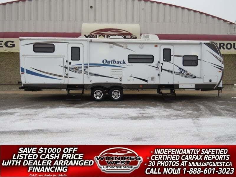 2013 Keystone RV OUTBACK 312BH 35FT DUAL SLIDE BUNK HOUSE SLEEPS 10, DUAL KITCHEN, SUPER-LITE, 1 OWNER, NICE #W4836