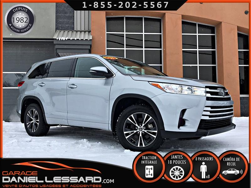 Toyota Highlander 2018 AWD LE 8 PLACES, BALLONS&CEINTURES OK, BELLE JOB ! #88547