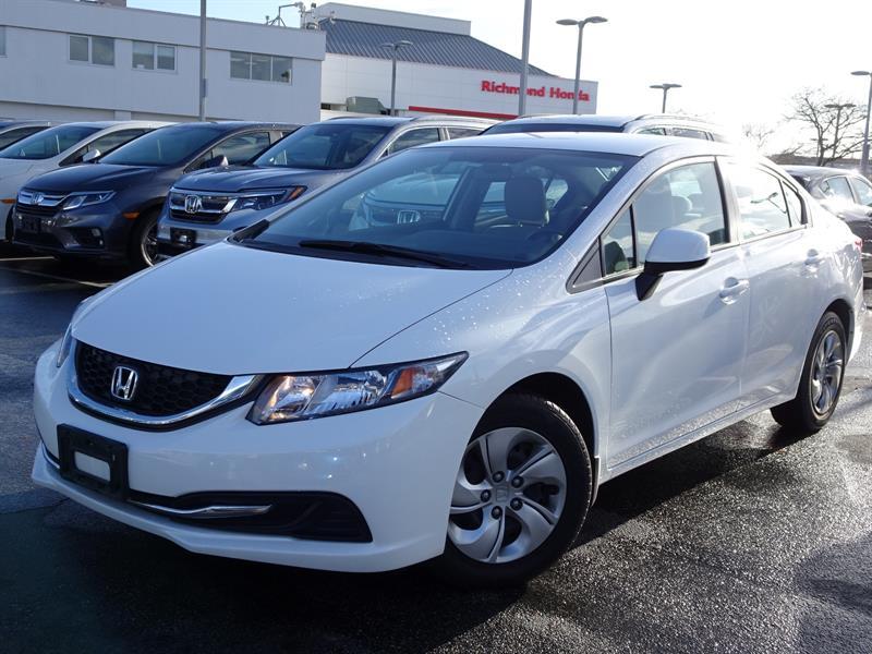 2013 Honda Civic Sedan LX 5AT! Honda Certified Extended Warranty to #B12368