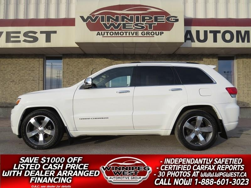 2015 Jeep Grand Cherokee OVERLAND 4X4 ECO-DIESEL, EVERY OPTION, LOW KMS! #DNW4867