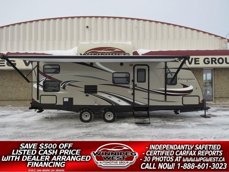 2015 Keystone RV PASSPORT ULTRA LITE GRAND TOURING 2650BH, 29FT SLIDE, BUNKS, SLEEP 8, SUPER NICE & SUV PULL-ABLE! #W4871