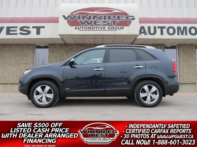 2012 Kia Sorento EXL LUXURY AWD, LEATHER, PAN ROOF, LOADED, LOCAL #GIW4863