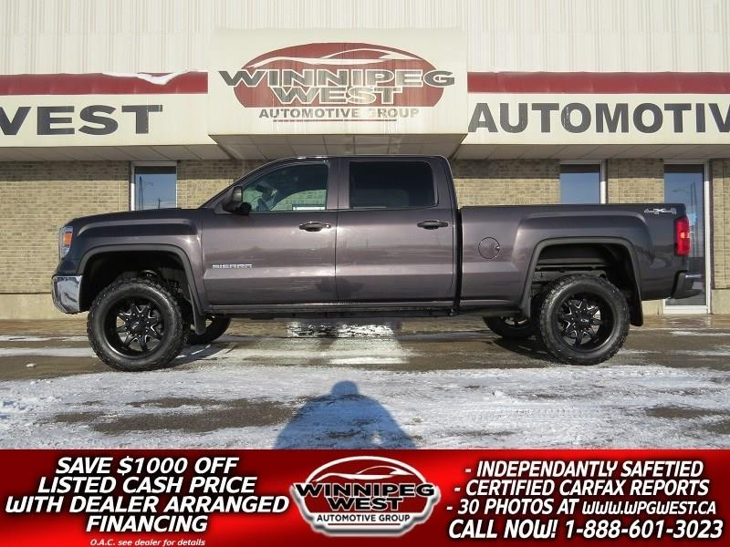 2015 GMC Sierra 1500 LIFTED CREW 5.3L V8 4X4, BIG LOOKS, LOCAL TRUCK! #GWL4854