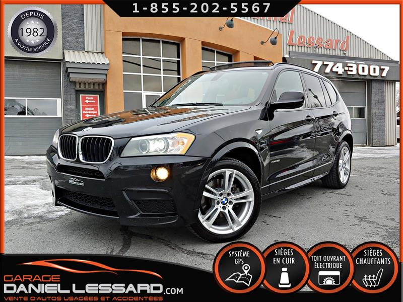 BMW X3 2013 M TWIN TURBO 300HP, CUIR CUIVRÉ, TOIT PANO, GPS. #38592