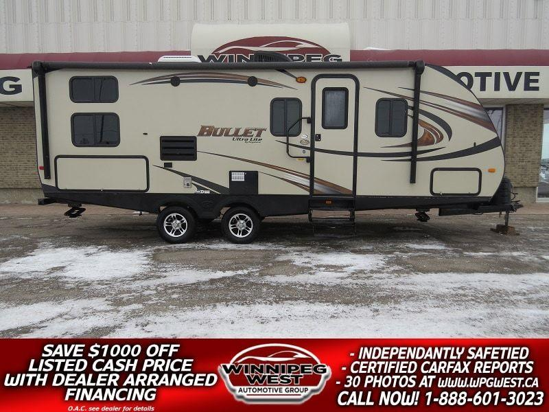 2015 Keystone RV BULLET 243BHS ULTRA LITE, BUNKS - SLEEP 8, BIG SLIDE, OUTDOOR KITCHEN, POWER AWNING, SUV PULLABLE #W4878