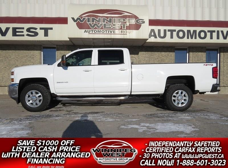 2015 Chevrolet Silverado 3500HD LT CREW 6.0L V8 4X4, 8FT BOX, 6 PASS, BLUETOOTH! #GW4852