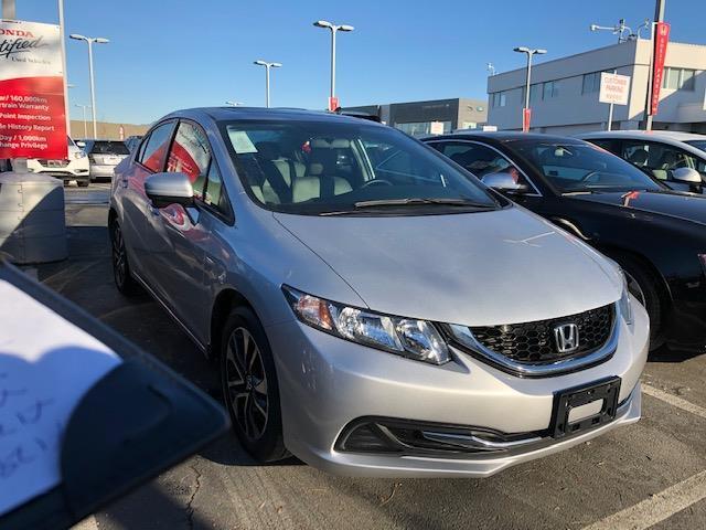 2015 Honda Civic Sedan EX CVT! Honda Certified Extended Warranty to #LH8440