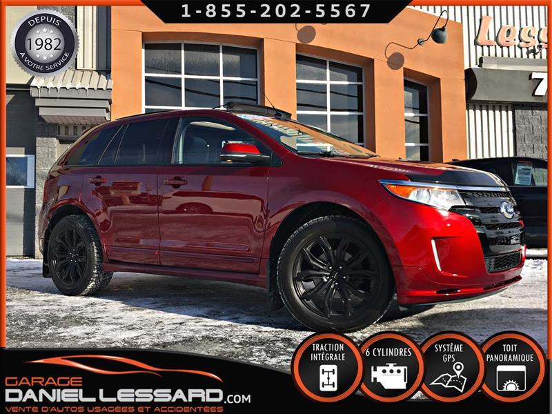 Ford EDGE 2013 SPORT AWD, 3.7 L V6, CUIR, TOIT PANO, CLEAN !!! #38488