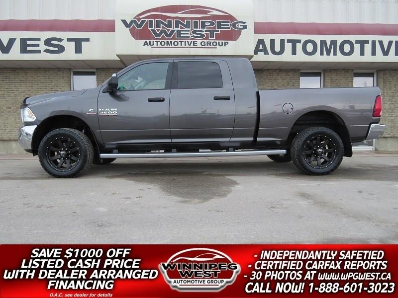 2015 Ram 3500 MEGA CAB, CUMMINS DIESEL, LOADED, LIKE NEW, SHARP! #DW3994