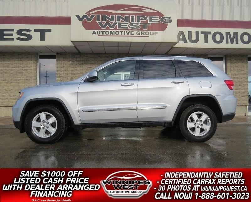 2011 Jeep Grand Cherokee LAREDO 4X4, LOADED, PUSH BUTTON START, HUGE VALUE! #GNW4088