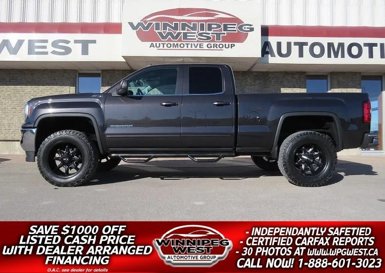 2016 GMC Sierra 1500 SLE Z71 4X4, BIG LIFT, HTD SEATS, LOW KM MB TRUCK #GWL4783