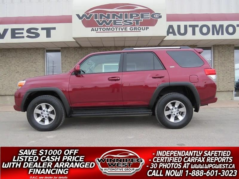 2010 Toyota 4Runner V6 4X4, ROOF, HEATED LEATHER, CLEAN LOCAL TRADE #GIW4754