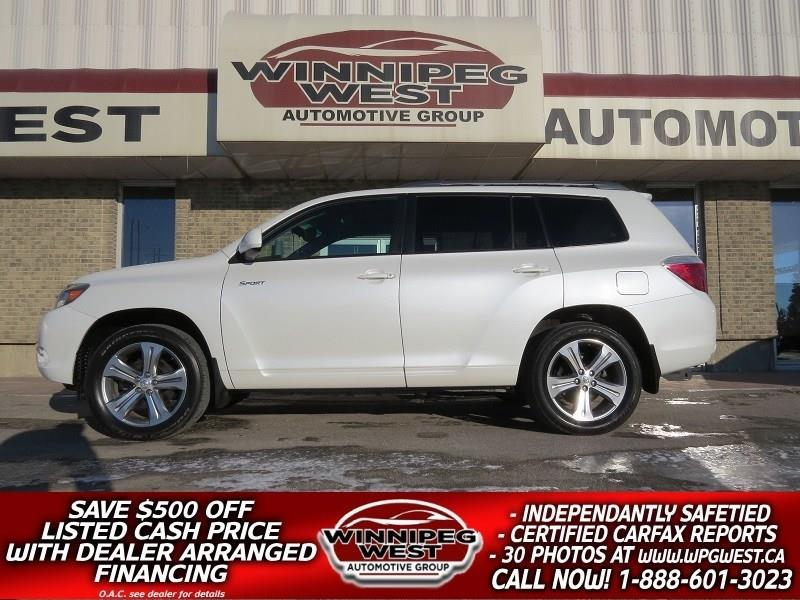 2009 Toyota Highlander SPORT AWD 7 PASS, LEATHER, ROOF, NO ACCIDENT LOCAL #GIW4879