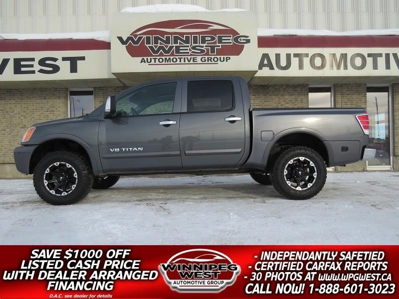 2012 Nissan Titan LIFTED SL EDITION CREW CAB 4X4, LEATHER, SUNROOF #GWL3584
