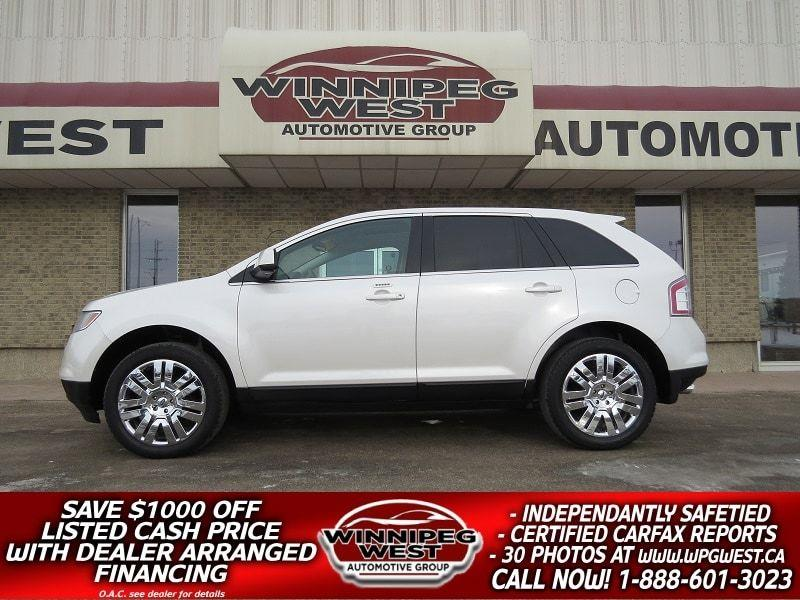 2010 Ford EDGE LIMITED AWD, HEATED LTH, PAN ROOF, LOCAL, LOW KM! #GNW4880