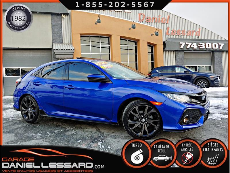 Honda Civic Hatchback 2018 SPORT, 1.5 TURBO, TISSUS, TOIT, MAGS 18 P #88626