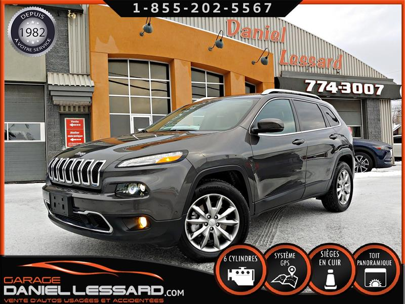 Jeep Cherokee 2018 LIMITED AWD, CUIR, GPS, TOIT, ANGLE MORT,  #88556