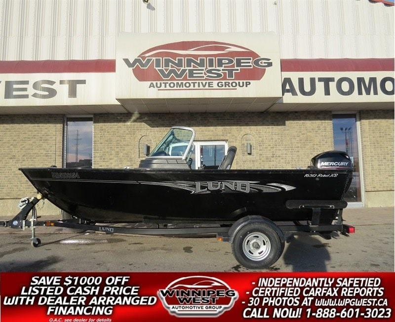 2016 Lund Boat Co 1650 REBEL XS FISHING BOAT, 60 HP MERC 4-STROKE MOTOR, LUND SHORELINE TRAILER, NICE!! #W4857