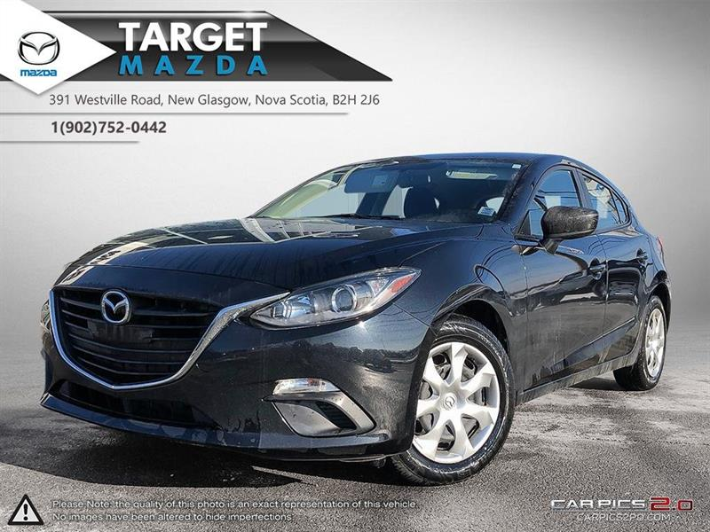 2016 Mazda 3 Sport $63/WK TAX IN! ONE OWNER! AUTO! A/C! NEW TIRES! #U5148