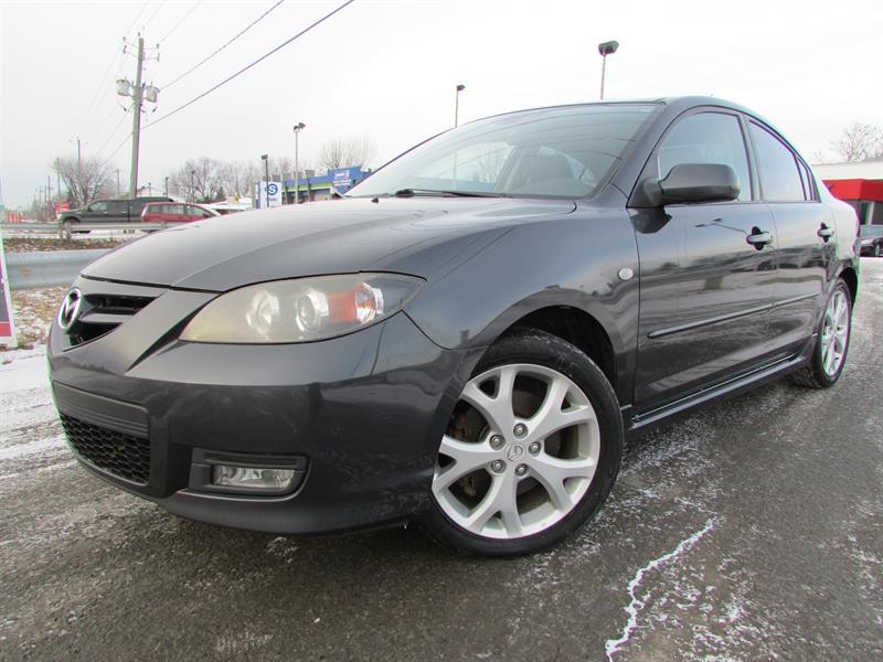 Mazda mazda3 2007 GT MAN. A/C CUIR TOIT OUVRANT!!! #3988