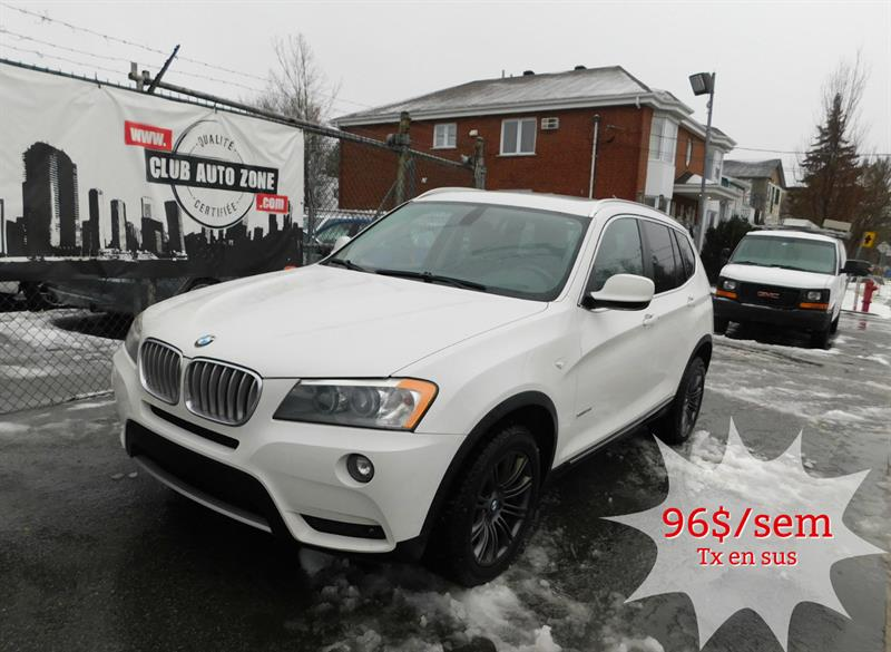 BMW X3 2011 28i AWD AUTOMATIQUE BLUETOOTH TOIT PANORAMIQUE #BLW14321