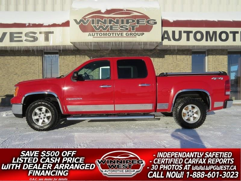 2009 GMC Sierra 1500 CREW 5.3L V8 4X4, LEATHER, CLIMATE, CLEAN & SHARP! #GW4894