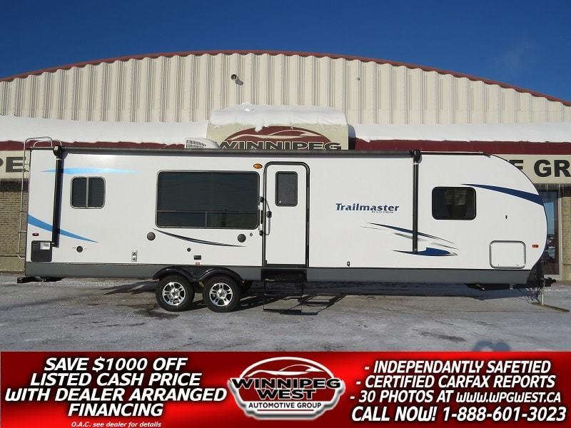 2017 Gulf Stream TRAILMASTER 299SBW 35FT BIG SLIDE, LARGE REAR KITCH & MASTER SUITE, HIGH END, FIREPLACE, AS NEW! #W4901