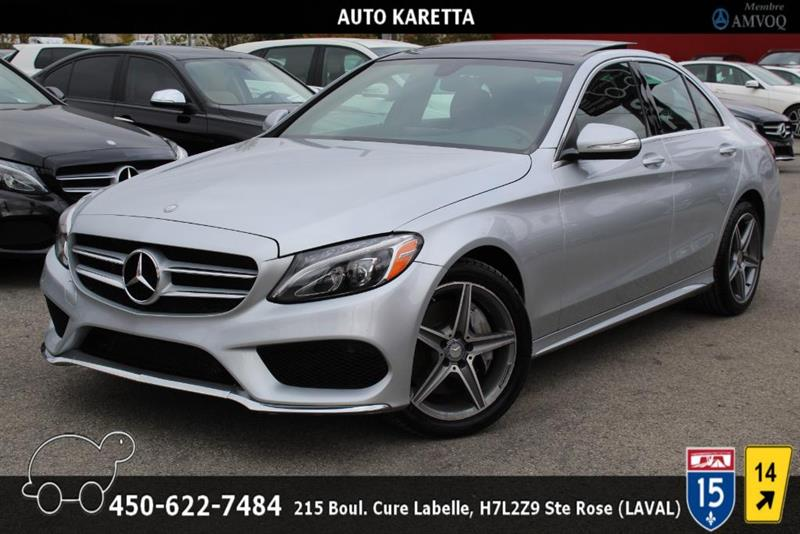 Mercedes-Benz C-Class 2015 C300 4MATIC/AMG/CUIR ROUGE/NAVI/LED/PANO/CAM #AS8272