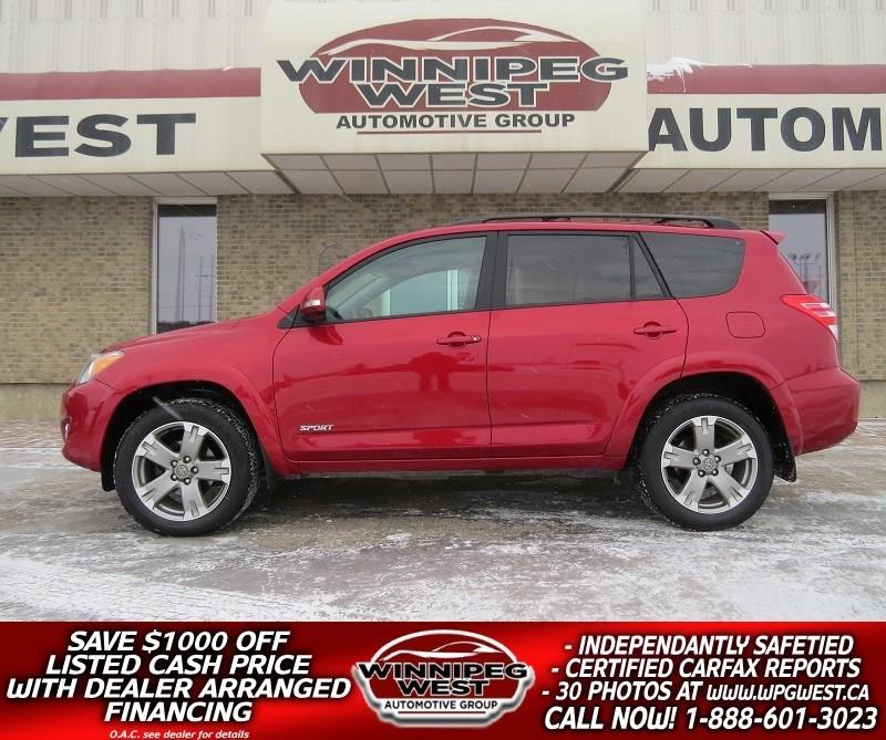 2012 Toyota RAV4 3.5L V6 SPORT 4X4, SUNROOF, LOW KM, LOCAL #GIW4778