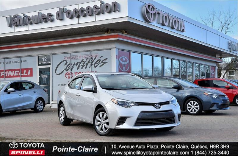 Toyota Pointe Claire >> 2015 Toyota Corolla Le Pkg Super Bas Km Used For Sale In