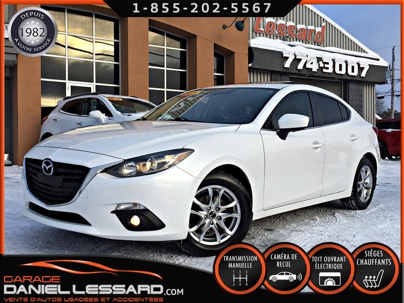 Mazda mazda3 2014 GS SEDAN 4 PORTES, MANUELLE, TOIT, CAMÉRA, PRÊT ! #48643