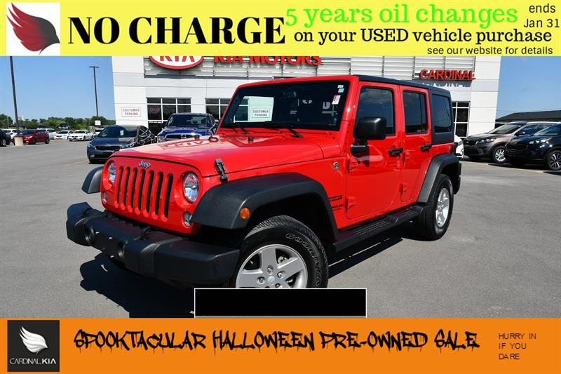 2014 Jeep Wrangler Unlimited Sport l  HARD AND SOFT TOP #7088